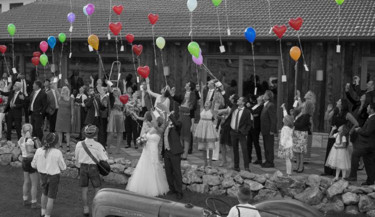 Akustischer Empfang vom Brautpaar samr Gäste