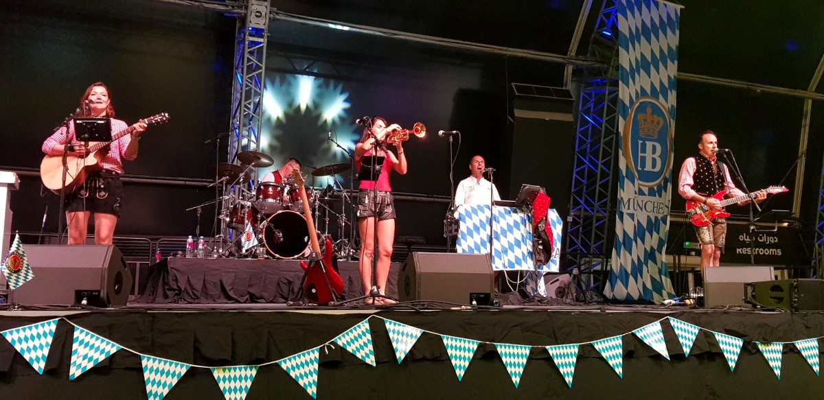 Abu Dhabi Oktoberfest band gaudiblosn
