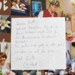 Brautpaar sagt Danke, Hochzeitsband